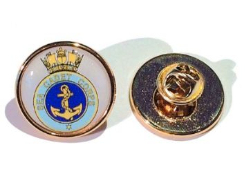 Premium Badge 21mm round gold clutch and printed dome